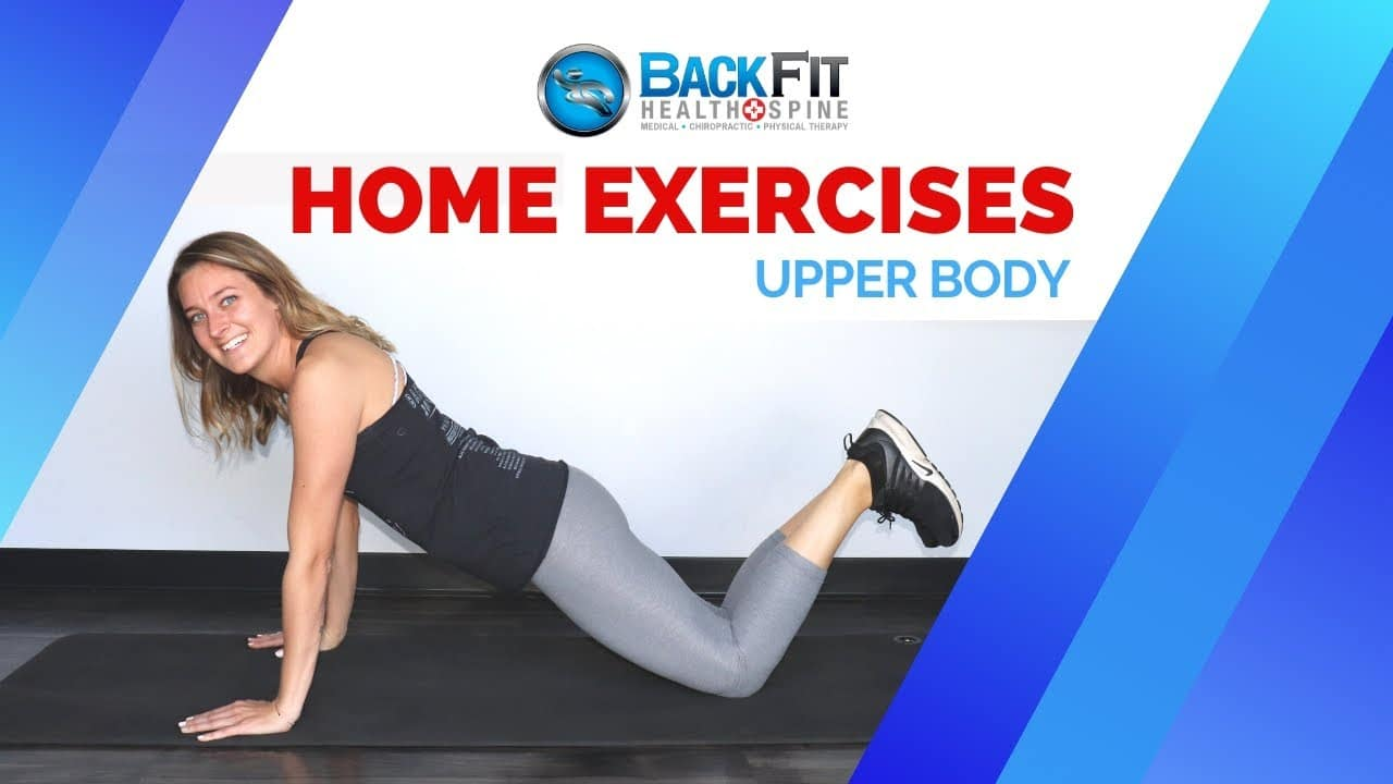 4 upper body exercises at home